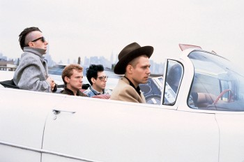 The iconic Bob Gruen image of the Clash en voiture, Cadillac-wise. CLICK IT TO BUY BOB'S BOOK